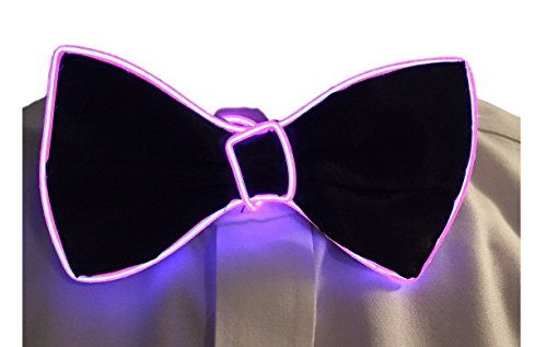 GlowTies LED Bowties Costume Accessory for Halloween/Rave Party Gear Clothing (Purple)