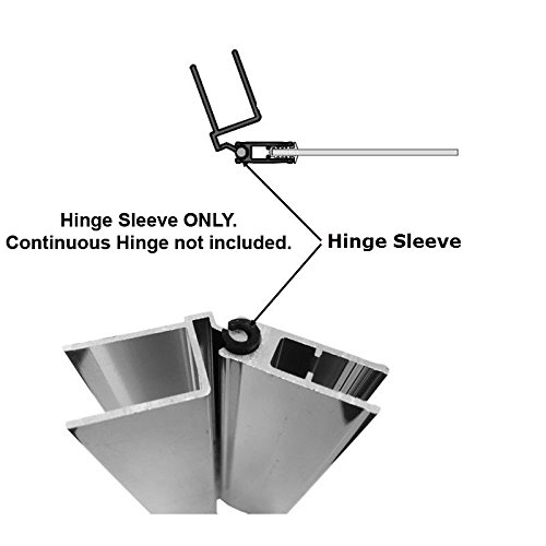 Hinge Sleeve for Shower Doors with Continuous Hinge - 72