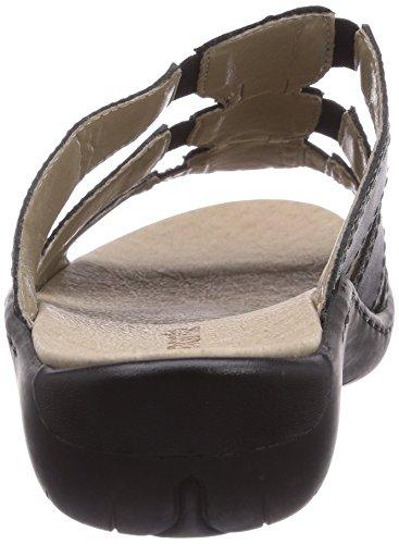 Remonte R8554 - zuecos de cuero mujer negro - Schwarz (schwarz 01)