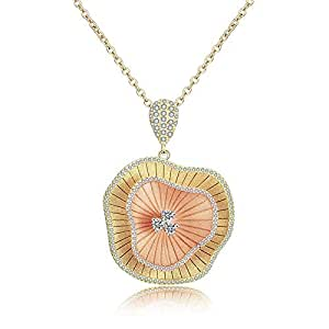 Mytys Flower Luxury Colorful Women Nigeria Wedding Naija Bride Pendant Necklaces for Women Jewelry Party Accessories