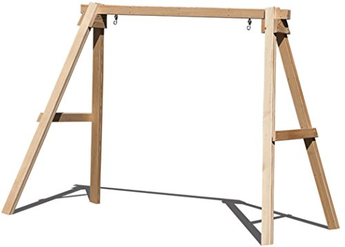 Pine Swing Stand - Ecommersify Inc Porch Swing Stand for 5 FT Swings A FRAME - 800 lbs Capacity Made in USA From Select Treated and kiln dried 4 x 4 Pine Posts