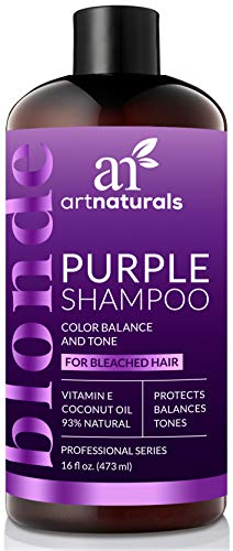 ArtNaturals Purple Shampoo for Blonde Hair - (16 Fl Oz / 473ml) - Protects, Balances and Tones - Bleached, Color Treated and Silver Hair (Shampoo And Conditioner For Blonde Highlighted Hair)