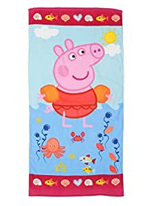 Toalla Peppa Pig bañándose 70 x 140cm