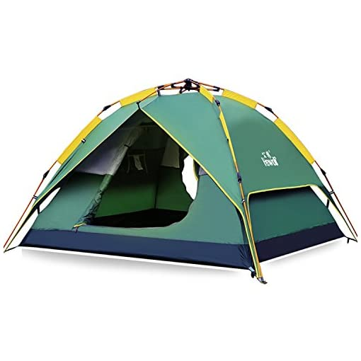 Hewolf-Camping-Tent-3-4-Person-Instant-Tent-Waterproof-Pop-up-Quick-Setup-3-Season-Family-Beach-Tent-UV-Protection-with-Carry-Bag