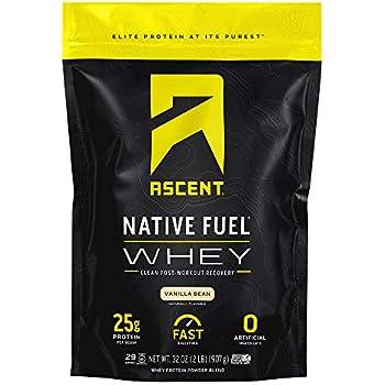 Amazon Com Ascent Native Fuel Whey Protein Powder
