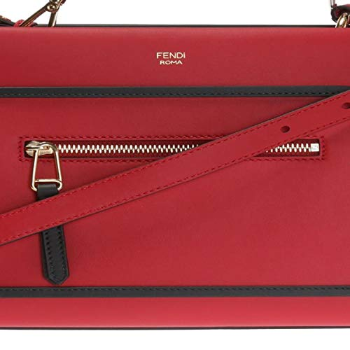 Fendi Bag Red (Fendi Red RUNAWAY Shoulder Hand-bag Calf Leather Shopping Tote 8BH344)
