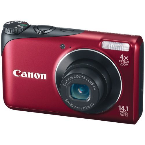 Canon Powershot A2200 14.1 MP Digital Camera with 4x Optical Zoom (Red) [並行輸入品]   B07F61XG4R