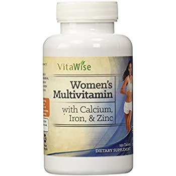Womens Once Daily Multivitamin with Calcium, Iron, and Zinc By VitaWise
