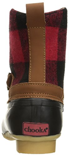 Fashion Chooka Ankle Duck Bootie Boot Women's Plaid Red 55gqwZr