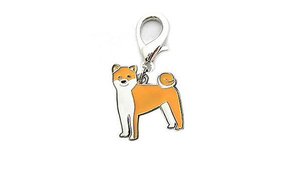 Llavero de metal para mujer, bisutería, diseño de perro bonito, Shiba Inu