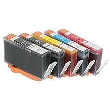 5x Imprimieux Cartouche d'Encre Reconditionnée 564XL (avec puce) BK PhotoBK C M Y Compatible pour HP Photosmart D5445 D5460 D5463 C309a C309n C310a, Deskjet 3070A 3520, Officejet 4610 4620