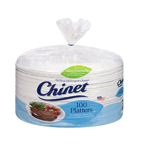 Chinet Platters, Extra Large, 100 Count