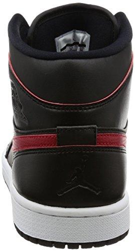 Nike 554724-009, Zapatillas de Deporte Hombre Negro (Black / Team Red / Team Red / White)