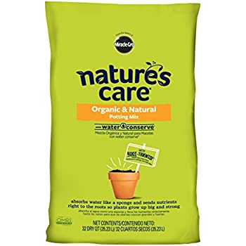 Nature's Care Organic Potting Mix with Water Conserve, 32-Quart (currently ships to select Northeastern & Midwestern states)