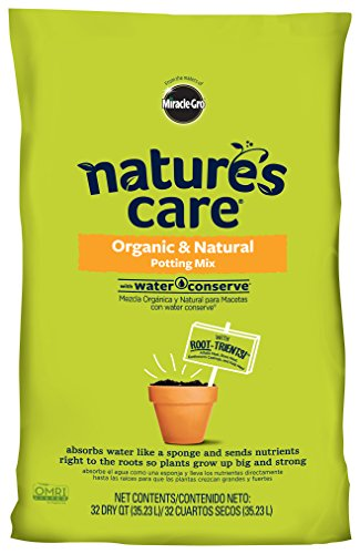 Nature's Care 71283630 Organic Water Conserve, 32-Quart Potting Mix