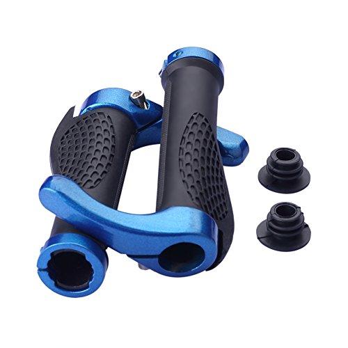 SIENOC Paar Fahrrad Bar End Lenker Grips Berg Fahrrad MTB Ergonomisch Lenkergriffe Schraub-Griff Ergogriffe Ergo Bar Grips (blau)