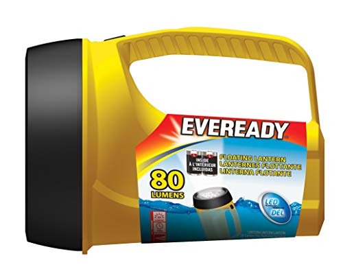 Eveready Readyflex LED Floating Lantern Flashlight, Long-Lasting Ultra Bright LED, 400-hour Run-time (Alkaline Batteries)