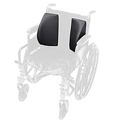 Lacura Lateral Support Assembly, Foam Wing Padding to Support the Torso, Lateral Pads to Prevent Leaning of Elderly, Handicapped, and Disabled users, Adjustable Pads Fit Most Wheelchairs