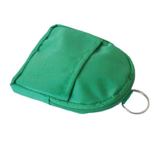 Pouch and Key Coin Loop with Pouch Coin and Key Belt Green FyBPH71cq