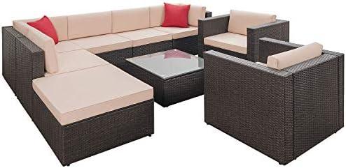 Amazon.com: Flamaker Juego de sofá para patio: Jardín y ...
