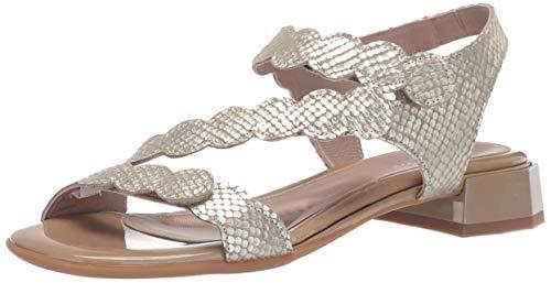 BeautiFeel Women's MUSA Heeled Sandal, Tahini oro SATINATO Combination, 360 Medium EU (5 -