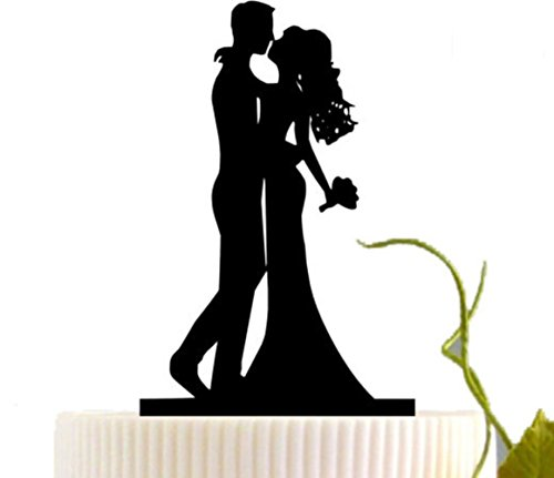 Bride and Groom Cake Toppers, KOOTIPS Hard Acrylic DIY Wedding Bride Bridegroom Cake Snack Decorations Picks Suppliers Party Accessories for Wedding Shower