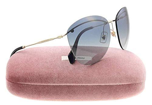 - Miu Miu 54PS ZVN3A0 Gold 54PS Round Sunglasses Lens Category 3
