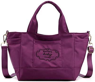 XLJJB Bolsas De Mensajero Casuales Bolsas Grandes Mujeres Bolsas De Hombro De Nylon De Gran Capacidad Simples Totalizador purple