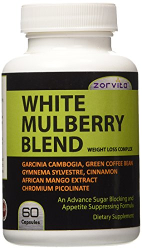 White Mulberry| # 1 Best Quality Weight Loss Complex with White Mulberry Leaf Extract, Garcinia Cambogia, Green Coffee Bean Extract, African Mango Extract, Gymnema Sylvestre, Cinnamon and Chromium Picolinate | The New Health Sensation | White Mulberry Weight loss – An Advance Sugar Blocking and Appetite Suppressing Formula | Truly Extraordinary White Mulberry Blend Dietary Supplement contains 1,365mg Proprietary Formula of White Mulberry Leaf Extract (Morus Alba) standardized to 1% alkaloids , 15% flavonoids, 60% HCA Garcinia Cambogia, 50% HCA Green Coffee Bean, African Mango Extract, Gymnema Sylvestre, Cinnamon and Chromium Picolinate for powerful added benefits of appetite suppression and fat-blocking | Decreases and blocks the metabolism of sugars, passing them through the system as waste | All-Natural Ingredients | 60 Capsules of White Mulberry Leaf Supplement | Manufactured in cGMP facility in the USA | 100% No Question Ask - Money Back Guaranteed