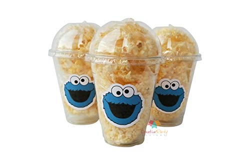 Set of 24 - Cookie Monster Party Cups, Sesame Street Cups, Cookie Monster 1st Birthday, Cookie Monster Favors, Cookie Monster - Birthday Monster 1st Cookie