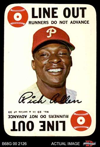 1968 Topps Game # 23 Rich Allen Philadelphia Phillies (Baseball Card) Dean's Cards 4 - VG/EX - Topps Game 1968