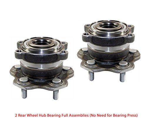 (2 DTA Rear Wheel Hub Bearing Full Assemblies NT512346G3 X2 Fits Rear Left and Right 2003-2006 Infiniti G35, 2003-2009 Nissan 350Z. Full Assembly, No Need for Bearing Press)