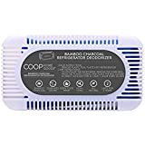 COOP HOME GOODS - Natural Bamboo Activated Charcoal Refrigerator Deodorizer Air Purifier Odor Absorber for Home Use - Reusable for 2 Years - Eco-Friendly