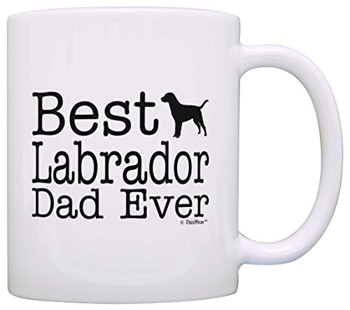 Dog Lover Gifts Best Labrador Dad Ever Lab Retriever Pet Owner Rescue Gift Coffee Mug Tea Cup - Mug Lab Chocolate