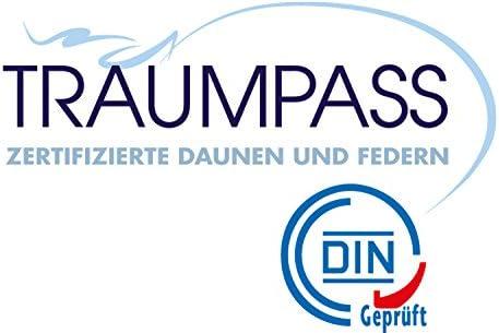 Traumnacht Base Couette en duvet, pour l'été, 90% Duvet et 10% Plumes, Blanc, 200 x 200 cm