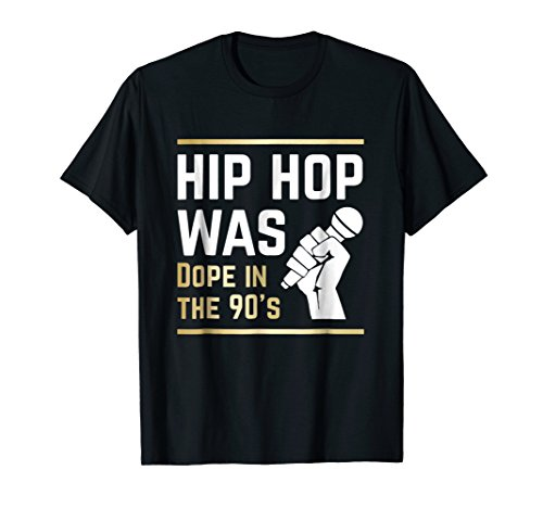 Mens Hip Hop Was Dope In The 90s | Rap Music T-Shirt Small Black by Rocky Hip Hop Dope In The 90s Shirts