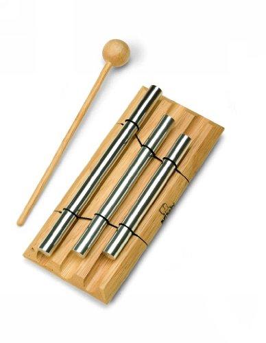 - Nino Percussion NINO580 Handheld Energy Chimes, 3 Rows, Natural Finish