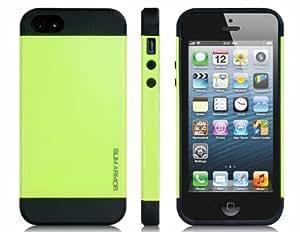 Silicona y plástico Funda protectora para el iPhone 5 (verde)