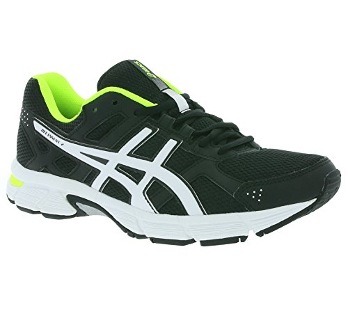 ASICS GEL-ESSENT 2 Mens Running Shoes (T526Q) Black / White / Safety Yellow