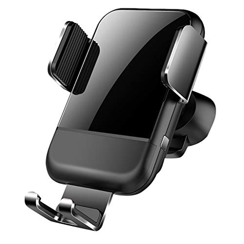 Islandse Air Vent Gravity Linkage Qi Wireless Car Charger Charging Holder for Samsung Galaxy S10 S10+ Black