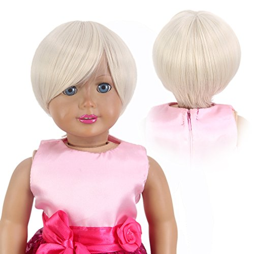 Baby Beehive Costume (STfantasy Doll Wig American Girl Barbie Baby BJD SD Short Straight Bob Lolita Harajuku Heat Resistant Synthetic Hair for 18
