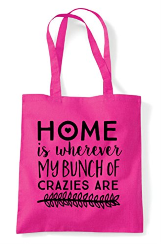 Where Bunch Fuschia Home Of Tote Is Bag Statement My Shopper Are Crazies wxAPc4tA5q
