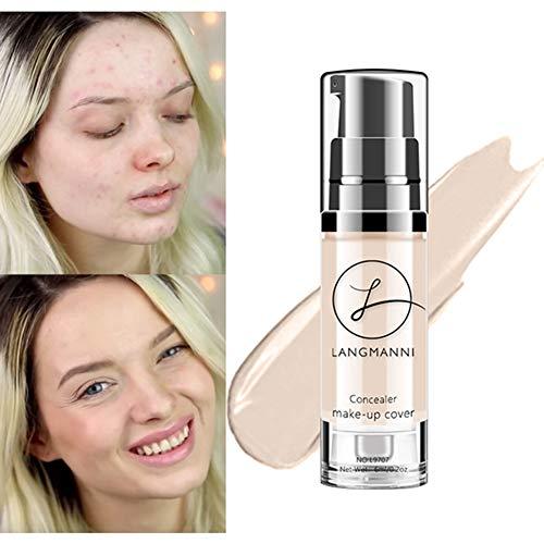 (Ofanyia Concealer Makeup Cover Liquid Foundation Long Lasting Waterproof Brighten Skin Colour Concealer Cream)