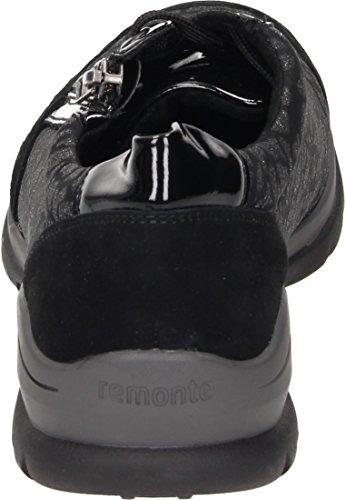 Schwarz Schwarz Glitter schwarz Schwarz 03 Zapatillas Remonte D5311 para Negro Mujer q0xWBSTz1w