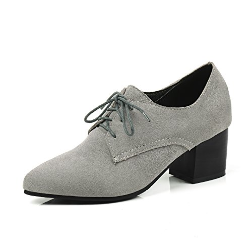 Grey Chaussures MEI Femmes Talon amp;S Bloc Chaussures AwSq7YBS