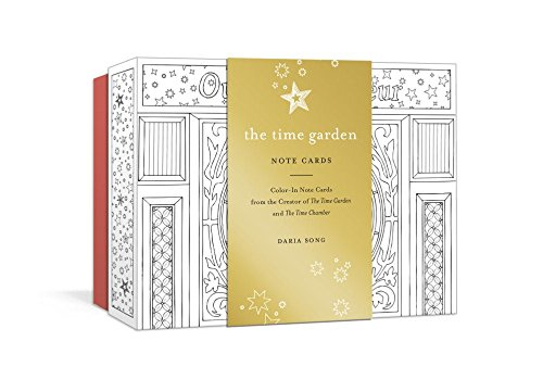 The Time Garden Note Cards: Color-In Note Cards from the Creator of The Time Garden and The Time Chamber (Time Adult Coloring Books)