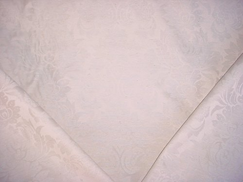 34RT24 - Oyster / Platinum Floral Lotus Leaf Damask Jacquard - To the Trade / Designer Upholstery Drapery Fabric - By the Yard ()