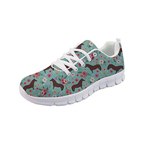 Floral Sneaker de Runing motif Fashion Sport 1 Filles Femmes Showudesigns Animal Couleur Shoes qw1nCB