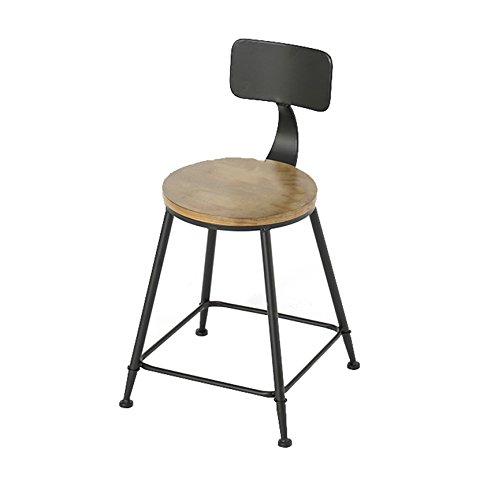 C 404071cm Chair - Fashion Personality Solid Wood bar high Stool Chair (color   B, Size   40  40  71cm)