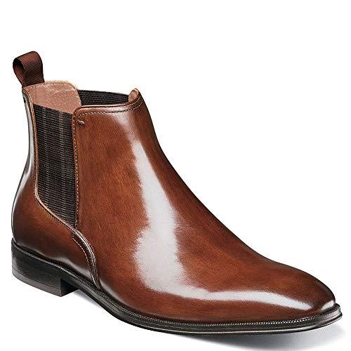 Gore Panel - Florsheim Men's Belfast Plain Toe Gore Boot Cognac Smooth 11 D US